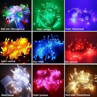 LED Street Garland String Lights 10\/20M 30M 50M Christmas Lights Outdoor EU plug Garden Trees New Year Decoration Holiday Lights