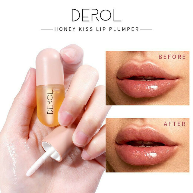 5ml Instant Volumising Lips Plumper Repairing Reduce Lip Fine Lines Mask Long Lasting Moisturizer Care Lip Oil Sexy Plump Serum 3