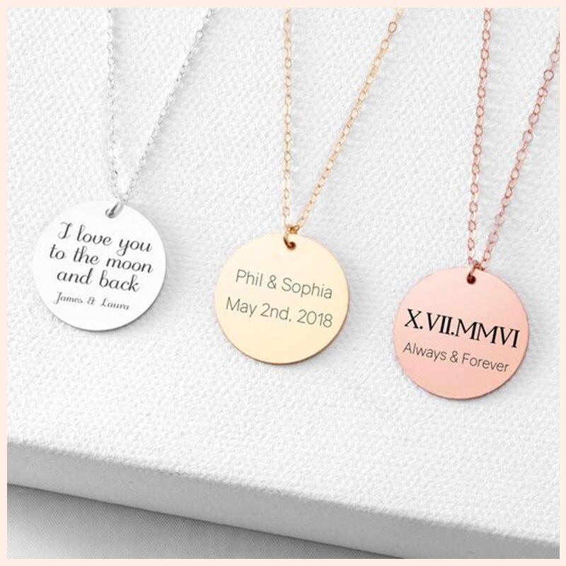 Nouveau collier monogramme Initial en argent sterling personnalisé personnalisé plaque signalétique pendentif pour femmes colliers bijoux cadeau d'anniversaire