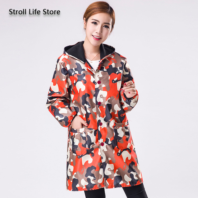 Camouflage Long Women Raincoat Rain Poncho Jackets Men Waterproof Coat Windbreaker Women Rainwear Gabardina Mujer Gift Ideas 5