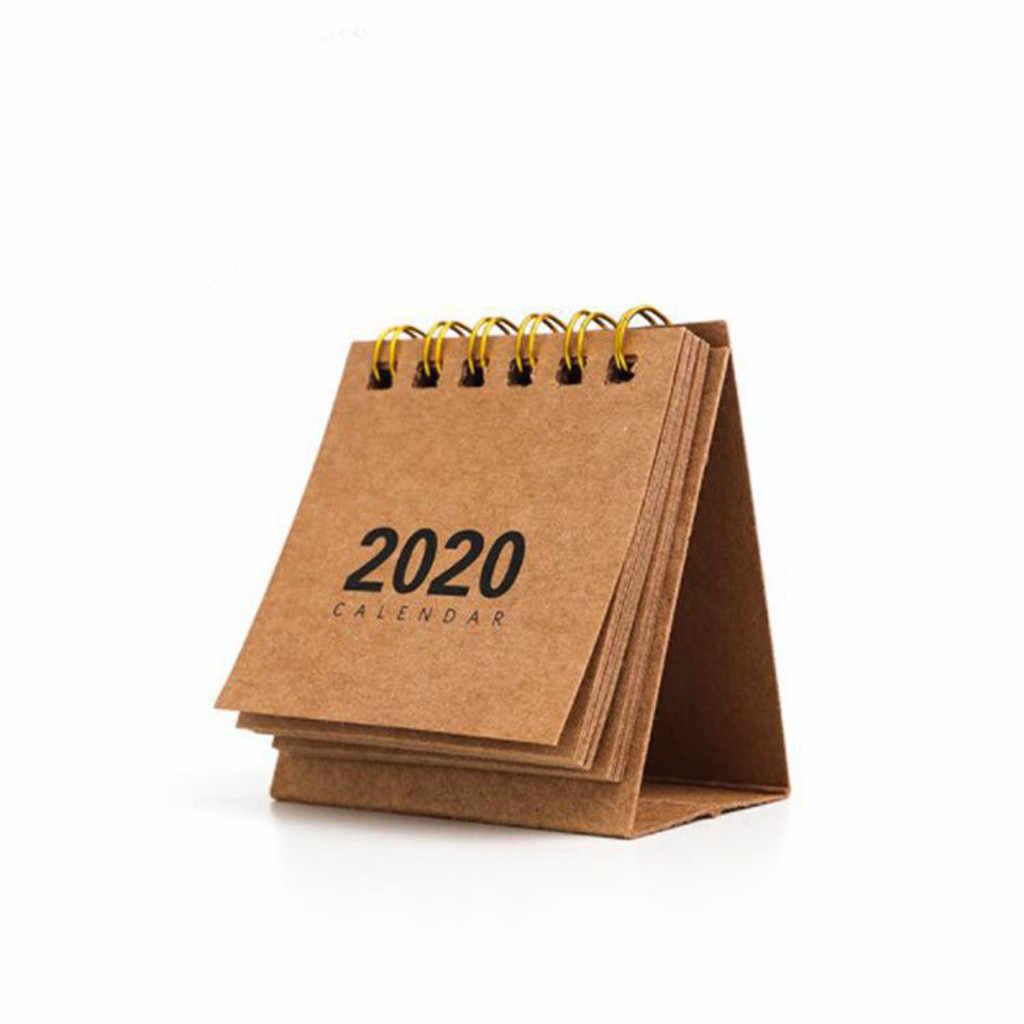 2020 настольный мини-календарь, стоячий, откидной календарь, ежедневный, ежемесячный, настольный планировщик, органайзер для дома, школы, офиса
