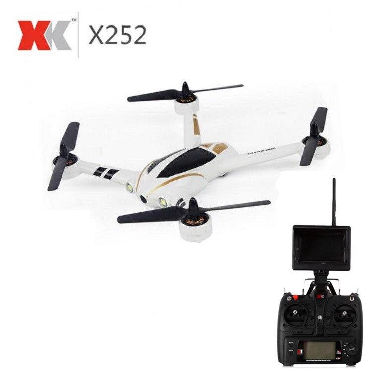 XK X252 5.8G FPV RC Quadcopter z 720 P szeroki kąt kamery HD i bezszczotkowy silnik 3D 6G tryb RTF