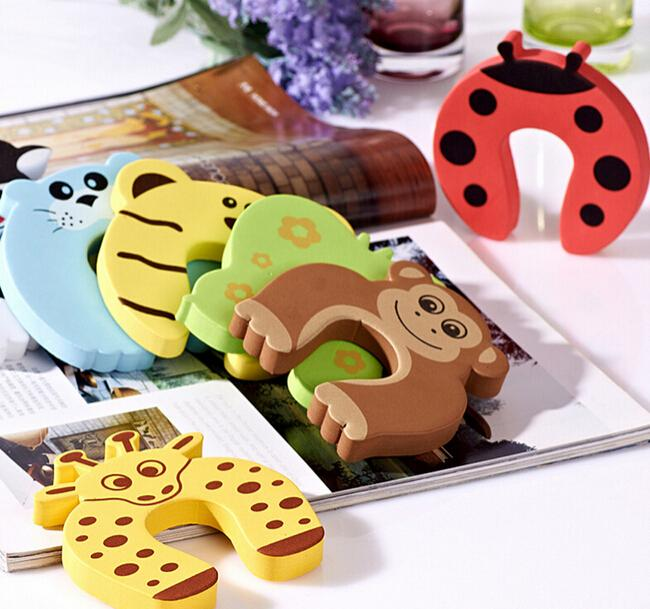 Cartoon Animal Jammers Stop Door Stopper Holder Lock Safety Guard Finger Protect Door Stops For  Child Kids Baby Corner Guards