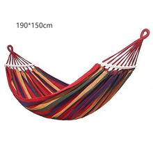 New 2 People Outdoor Canvas Camping Hammock Bend Wood Stick Steady Hamak Garden Swing Hanging Chair Hang With Curved Stick(China)