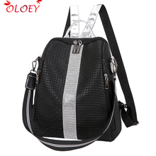 Brand 2020 new high quality backpack  leather woman big zipper backpack student backpack fashion bag woman leisure travel bag