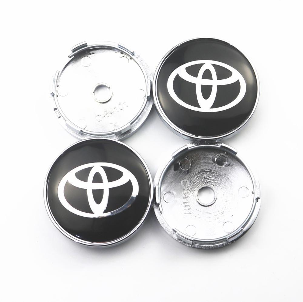 4 шт. 60 мм Крышка Ступицы Колеса s Автомобильная эмблема значок Логотип Крышка центра колеса для Toyota camry chr corolla rav4 yaris prius автомобильный Стайли...