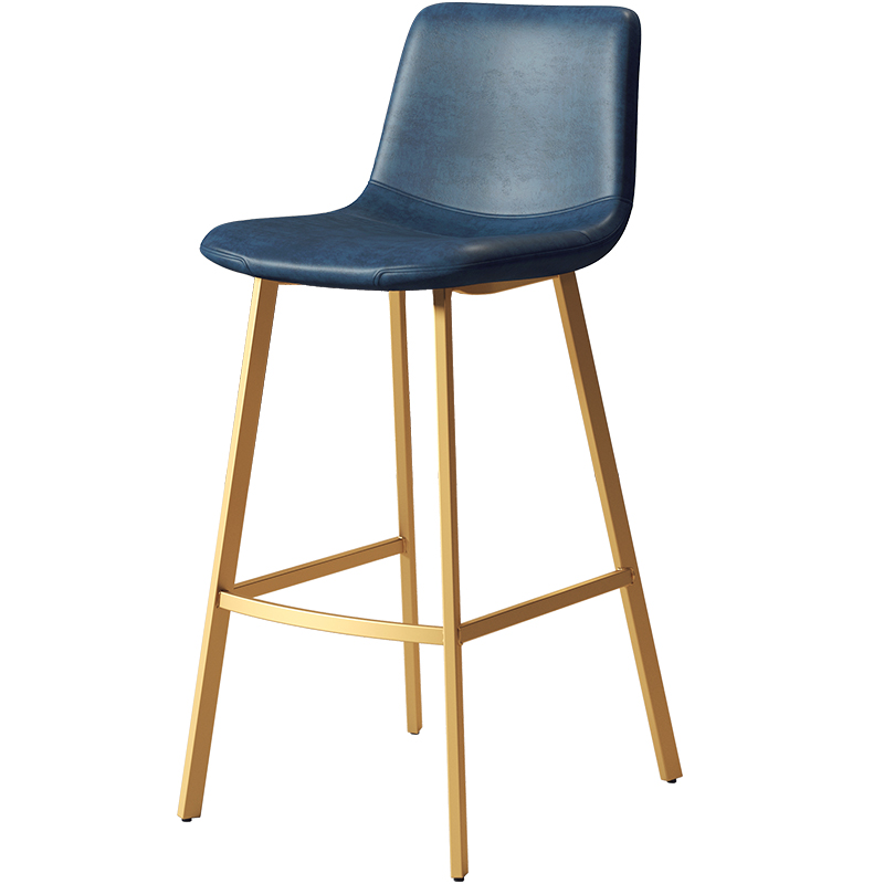 Nordic Light Luxury Backrest High Stool Golden Net Red Bar Stool Ins Bar Chair Simple And Stylish Bar Chair