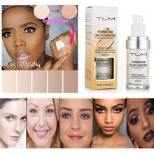 Dropshipping 30ml tlm cosméticos cor mudando líquido rosto fundação maquiagem mudar para sua pele acne corretivo spf 15 tslm1