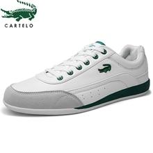CARTELO scarpe da uomo di sport di modo scarpe da uomo scarpe di cuoio classiche lace up scarpe da uomo basso top comfort scarpe basse da uomo