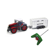 цена на Agrimotor 1:28 Scale 4 Channel Remote/Radio Control Farm Tractor Model Toy, RC Farmer Truck, Oxcart/Horse Cart/Grass-Mowing Cars