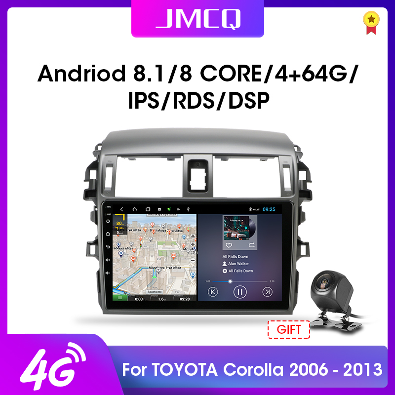 JMCQ 2 DIN 2G+32G Android 4G NET Car Radio Multimedia Player for <font><b>Toyota</b></font> <font><b>Corolla</b></font> <font><b>E140/150</b></font> 2006-2013 AutoStereo GPS Navigation RDS image