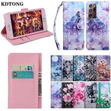 Custodia per telefono in pelle verniciata 3D per Samsung Galaxy A02S Note20 S21 Ultra Plus S20 FE 4G 5G Capa portafoglio porta carte di credito Kikstand Cover