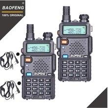2 قطعة BaoFeng UV 5R لاسلكي تخاطب VHF UHF 136 174 ميجا هرتز و 400 520 ميجا هرتز ثنائي النطاق اتجاهين راديو هام راديو UV5R المحمولة جهاز الإرسال والاستقبال UV 5R