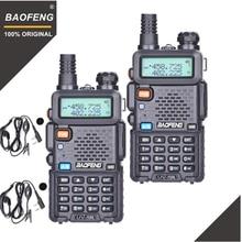2Pcs BaoFeng UV 5R Walkie Talkie VHF UHF 136 174Mhz & 400 520Mhz Dual Band Two radio bidirezionale Ham Radio UV5R Ricetrasmettitore Portatile UV 5R