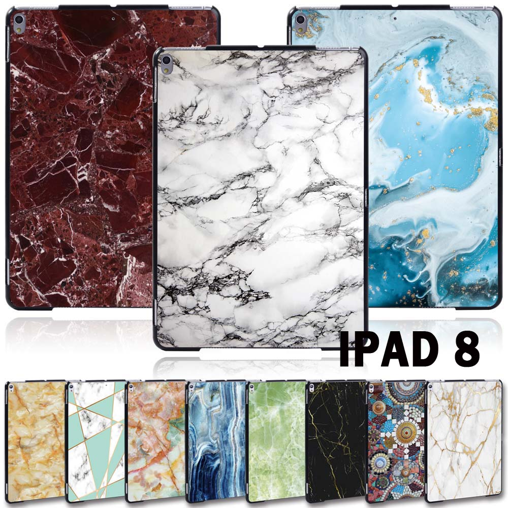 For Apple iPad 8 10 2 2020 8th 8 Generation A2428 A2429 Slim Printed Marble tablet