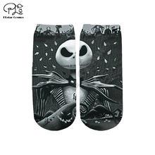 Plstar Космос Рождество Ночь страха Скеллингтон хлопковые носки