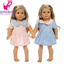 doll jeans dress clothes fit for 43cm new born baby coat 18 inch american