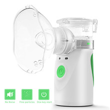 Portable Mini Inhale Nebulizer For Kids Adult Handheld Silent Ultrasonic Nebulizer Spray Rechargeable Steaming Device Children(China)