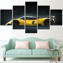 5 Pieces Sports Cars Canvas Posters Cool Car Wallpapers Vehicle Painting Picture For Home Living Room Decor Wall Art Modern HD(China)