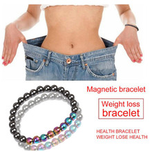 Magnetic Bracelet Jewelry Weight-Loss Stretch-Health-Care Black Women for Hematite Stone