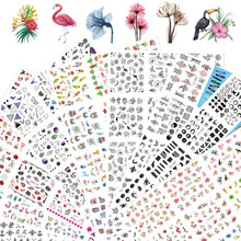 12 designs adesivos de unhas conjunto de tatuagens florais, geométricos, sexy, arte de unha, decalques de transferência de água, sliders de manicure