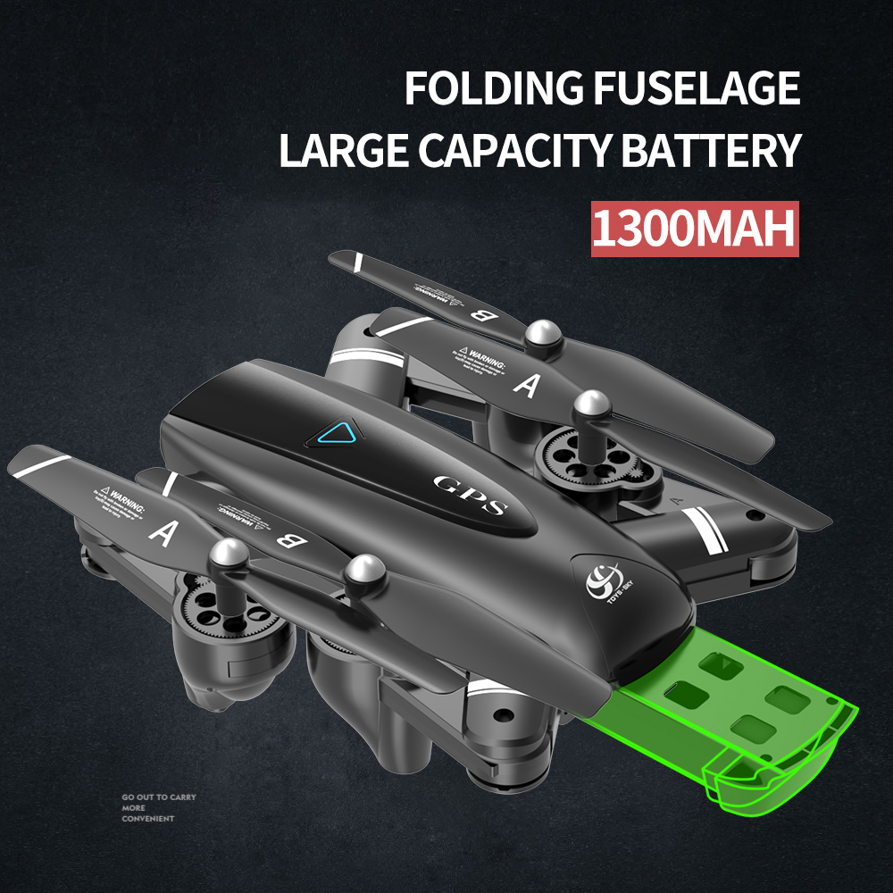 S167 5G Drone GPS RC Quadcopter With 4K Camera WIFI FPV Foldable Off-Point Flying Gesture Photos Video Helicopter Toy 5