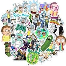 10 30 50pcs Waterproof PVC Cartoon Rick And Morty Stickers Skateboard Suitcase Luggage Guitar Graffiti Stickers