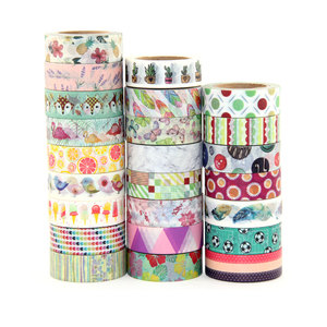 Image 1 - 527 designs 30pcs/lot hot sale floral,cartoon, black ,lover cat Washi Tape DIY masking  Adhesive washi Tape lot 10m,5m