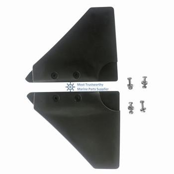 Hydrofoil Fin Stabilizer Outboards Sterndrives 2 Pieces Black Boat