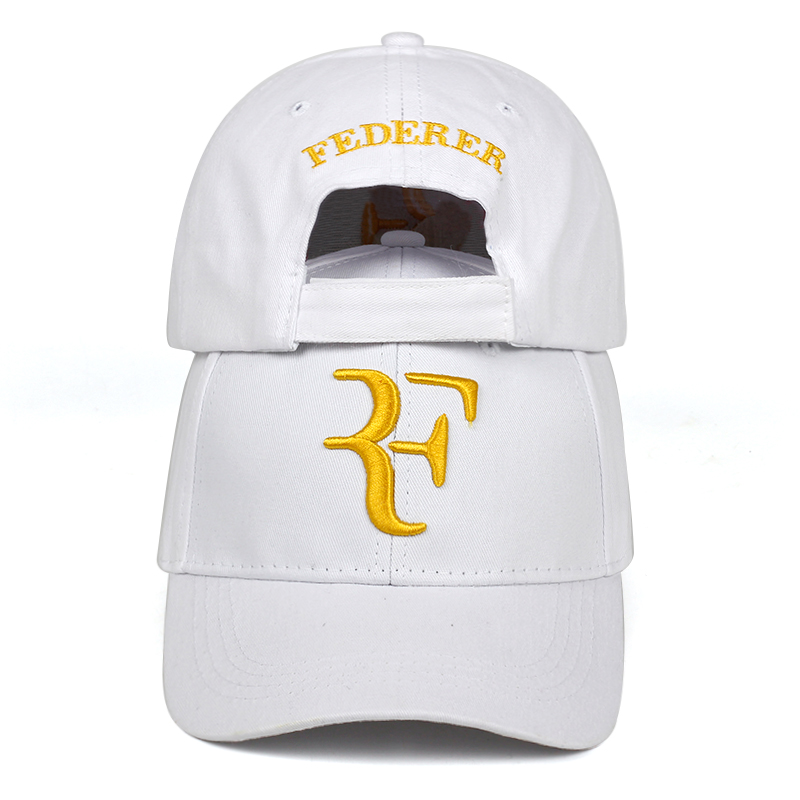 Unisex Brand Caps Tennis Star Roger Federer Dad Hat Sport Baseball Cap Cotton 3D Embroidery Tennis Hat F Letter Snapback Hats