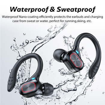 TWS Wireless Earphones Waterproof HiFi Stereo Sport Headsets LED Display Bluetooth-Compatible Headphones Earbuds With Microphone 4