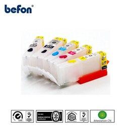 Befon PGI-520 kompatybilny napełniania PGI 520 CLI 521 pojemnika z tuszem ze stałym chip do urządzenia canon PIXMA IP3600 IP4600 IP4700