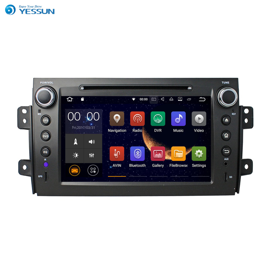 Yessun For <font><b>Suzuki</b></font> <font><b>SX4</b></font> 2006~2011 Android <font><b>Multimedia</b></font> Player System <font><b>Car</b></font> <font><b>Radio</b></font> Stereo GPS Navigation Audio Video image
