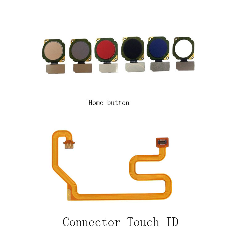 New High Quanlity For Huawei Honor 8x Home Button Fingerprint Sensor Scanner Connector Touch ID Flex Cable