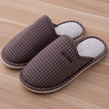 Slipper woman Plus size 43-45 Cotton Breathable Home slippers Gingham Unisex Slippers for home Fashion Winter slippers