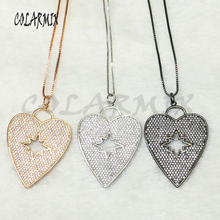 5 pieces Heart Crystal pendants necklace for Valentine's Day fashion accessories heart necklace for women 50166