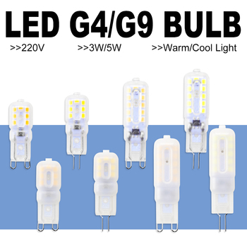 G9 LED Bulb 3W Dimmable LED Lamp G4 220V Bombillas Candle Light g9 Corn Bulb 5W Lampada LED Light Replace Halogen Lamp 2835SMD image
