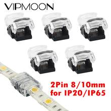5 unids/lote 2pin mm 8mm 10mm conector para tira de LED para un solo Color 3528 tira de LED 5050 a terminales de conexión CE RoHS