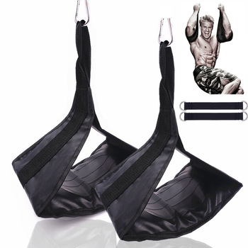 Fitness AB Sling Straps Suspension Rip-Resistant Heavy Duty Pair for Pull Up Bar Hanging Leg Raiser Home Gym Fitness Equipment 8