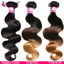 SAYME 3 4 Bundles Körper Welle Bundles Brasilianische Haarwebart Bundles 1B/4/27 30 Ombre Haar Bundles remy Menschliches Haar Extensions