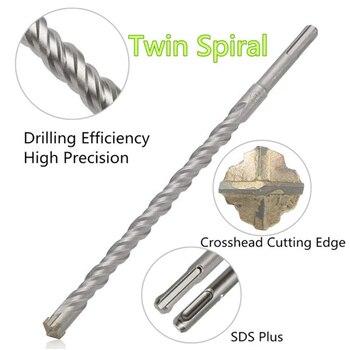 16*450mm SDS Plus Crosshead Twin spiral Hammer Drill Bits Woodwork Twist Round Shank Twist Electric Hammer Drill Bit 500mm sds max electric hammer impact drill bit total length 500mm