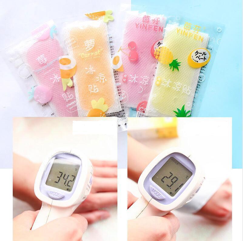 20Pcs Summer Fruit Cooling Pad Paste Heatstroke Mobile Phone Fever Cooling Pad Random
