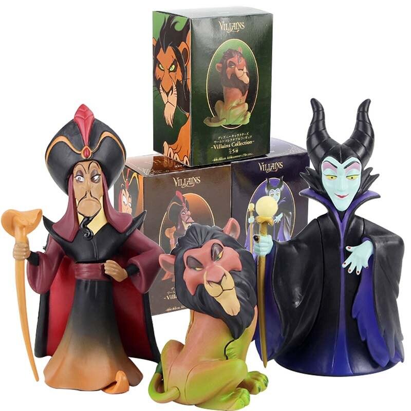 3 estilos Anime Figura de Ação Filme de Vilões Malefice Jafar O Rei Leão Scar PVC Modelo Brinquedos Bonecas Presente de Aniversário para crianças