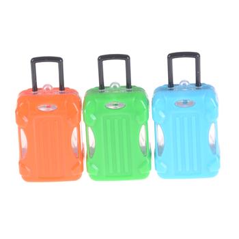 1 sztuk lalki podróży lalki wychodzące wystrój akcesoria do domku dla lalek dziewczyna prezent losowe słodkie plastikowe Rolling walizka pojemnik na bagaże tanie i dobre opinie SHPYHT Z tworzywa sztucznego CN (pochodzenie) Dollhouse Suitcase Luggage Box Unisex Moda Other don t eat
