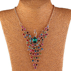 Peacock necklace col...