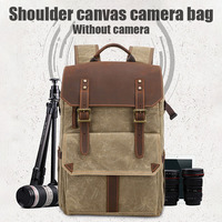 Outdoor Waterproof Photography DSLR Camera Backpack Wax Dye Canvas Video Digital Photo Bag Case GV99