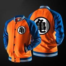 Zogaa anime goku varsity jaqueta outono casual moletom com capuz casaco jaqueta marca jaqueta de beisebol