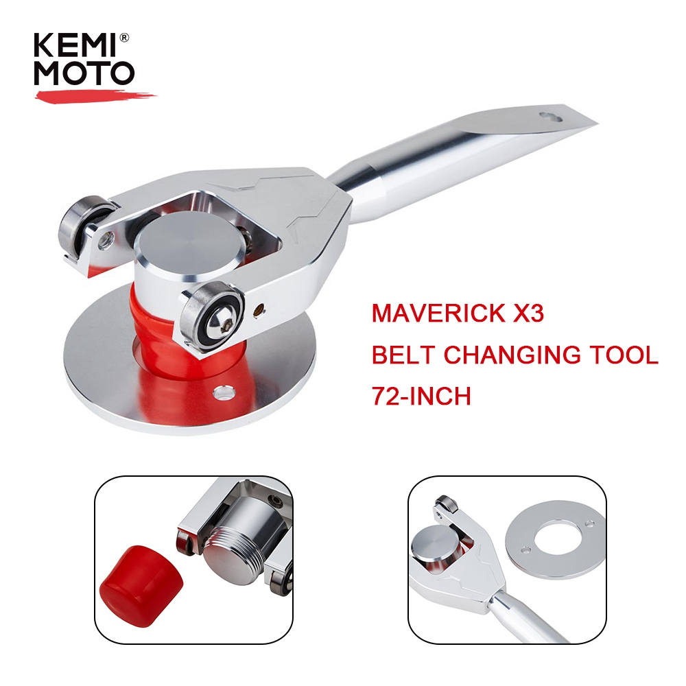 KEMIMOTO For Can-Am Maverick X3 Belt Changing Tool 72-inch Wheel Base Width For Can Am X3 Max R 4x4 XDS XRC XMR Turbo DPS 2017-