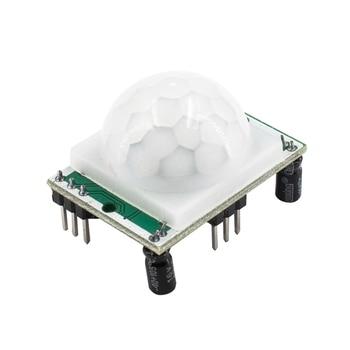 1 pçs HC-SR501 ajustar ir piroelétrico infravermelho pir sensor de movimento detector módulo para arduino para raspberry pi kits
