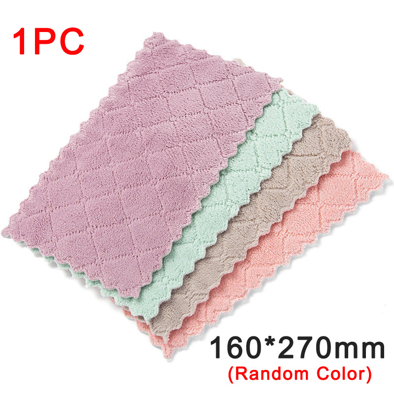 Super Absorbent Microfiber Kitchen Dish Cloth Household Cleaning Towel Cleaning Cloth home washing dish kitchen Cleaning towel